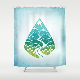 The Road Goes Ever On: Summer Shower Curtain