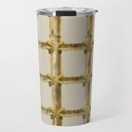 bamboo grid Travel Mug