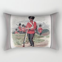 Third Battalion Grenadier Guards, drawn from life by Frank Dadd Rectangular Pillow