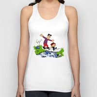 hobbes Tank Tops featuring Little Viking and Strong Man ('Calvin and Hobbes' / 'Pete and Pete' parody) by PeterParkerPA