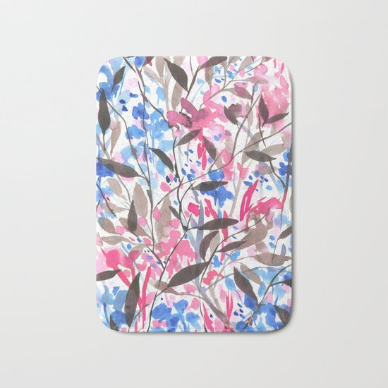 Wandering Wildflowers Pink  Bath Mat