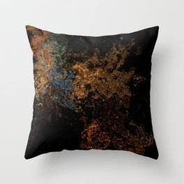 Melting Shimmers Throw Pillow
