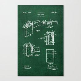 pocket lighter zippo green chalkboard Canvas Print