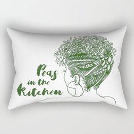 Peas in the Kitchen Rectangular Pillow