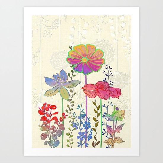 Flower Tales 4 Art Print