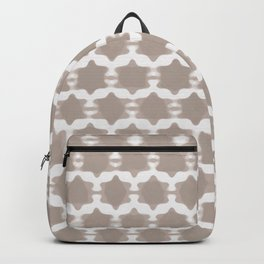 Hexagram Pattern: Beige Backpack