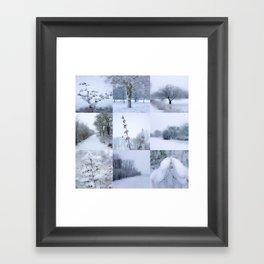 Winter mosaic Framed Art Print