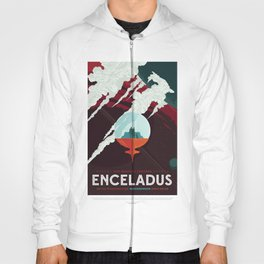 NASA / Enceladus / Space Poster / Vision of the future Hoody