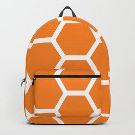 Orange Honeycomb Backpack