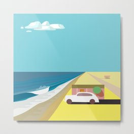 Mar de Cortez (square) Metal Print