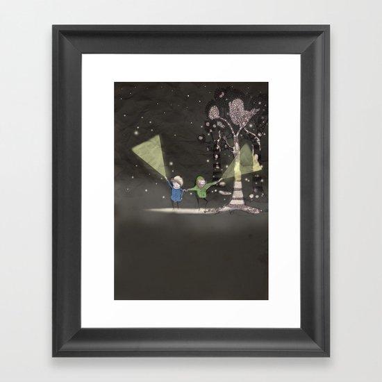 Night time Framed Art Print