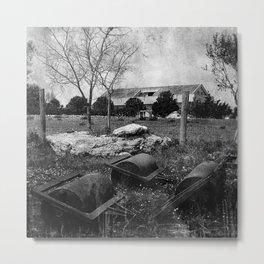 Rural House Metal Print