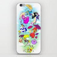 umbrella iPhone & iPod Skins featuring Umbrella by Natalie Nardozza