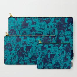 Dapper Dog_Teal Carry-All Pouch