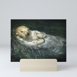 Drifting Sea Otter Mini Art Print