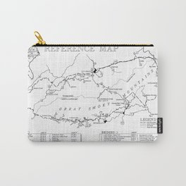 Map of The Great Smoky Mountains National Park (1996) Carry-All Pouch