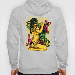 Skate GIRL with Tattoo - PINK Hoody