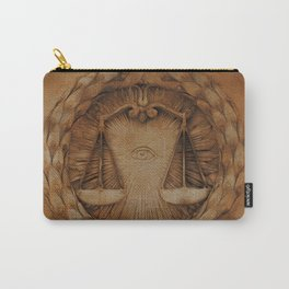 The Balance of Scales and The All-Seeing Eye Carry-All Pouch