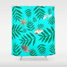 leaf coral Shower Curtain