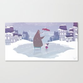 la neige Canvas Print