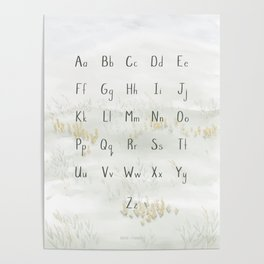 A Quiet Meadow Printed Alphabet Poster