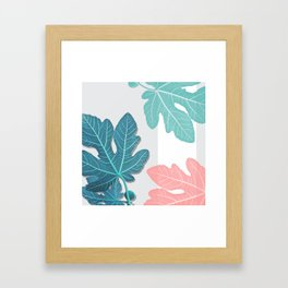 Colored Fig Tree Leaves Framed Art Print