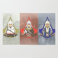 assassins creed Area & Throw Rugs featuring Master Assassins by Guialou