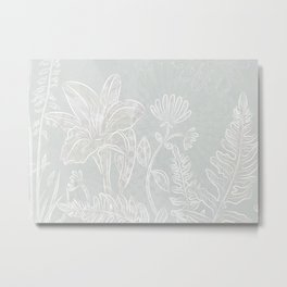 Sweet Daffodil - white Metal Print