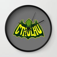cthulhu Wall Clocks featuring Cthulhu by Buby87