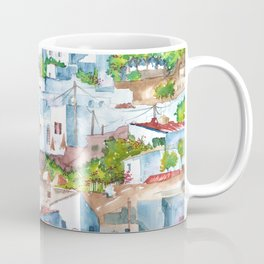 Panorama of Lindos Coffee Mug