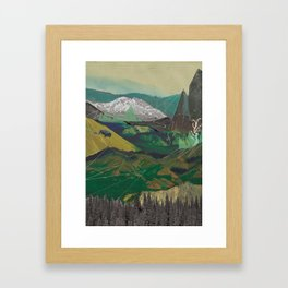 Buffalo Mountains Framed Art Print