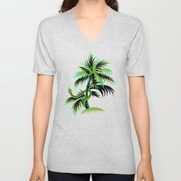 Snake Palms - Green Unisex V-Neck