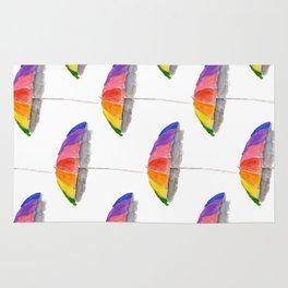 Rainbow Beach Umbrella Rug