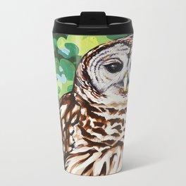 Barred Owl Metal Travel Mug