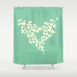 Heart In Hearts. Clouds in the hearts Shower Curtain