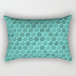 teal  beehive Rectangular Pillow