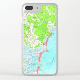 Vintage Map of Hampton Beach New Hampshire (1957) Clear iPhone Case