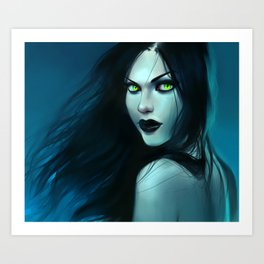 Siren of the Abyss Art Print
