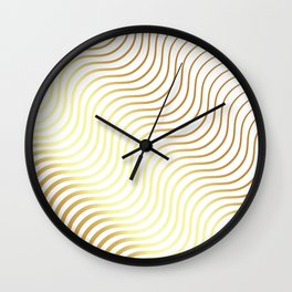 Whiskers Gold #634 Wall Clock