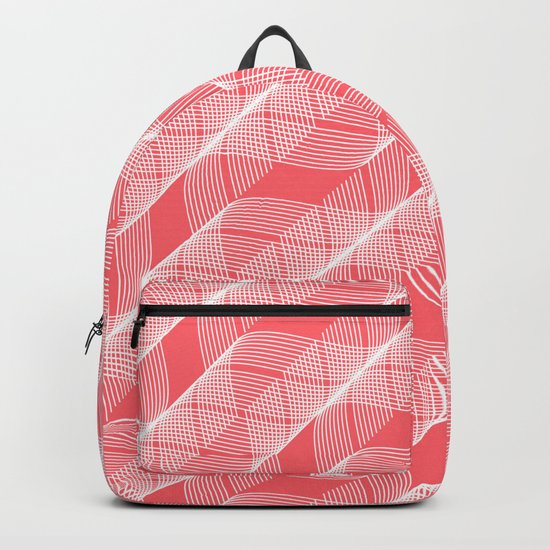 Coral Red Helix Backpack