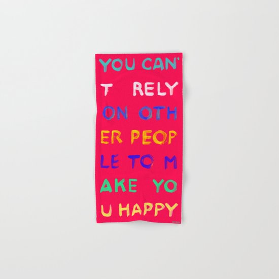 RELY / ABSOLUTELY HAPPY VERSION Hand & Bath Towel
