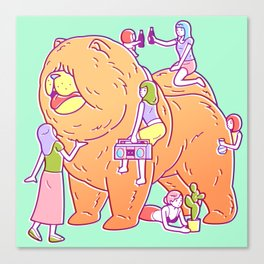 Giant Chow Chow Canvas Print