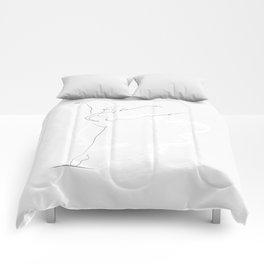 'Essence', Dancer Line Drawing  Comforters