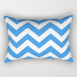 Bleu de France - turquoise color - Zigzag Chevron Pattern Rectangular Pillow