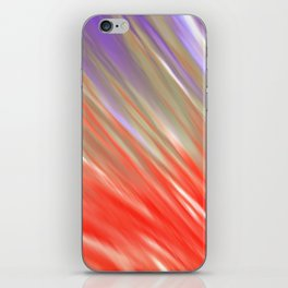 Crimson Aurora iPhone Skin