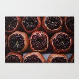 Pomegranates in Israeli Market Canvas Print