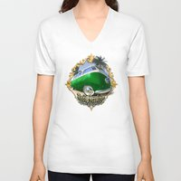 vw bus V-neck T-shirts featuring VW T1 Bus - Just cruisin' by GET-THE-CAR