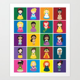 Little Princesses Art Print