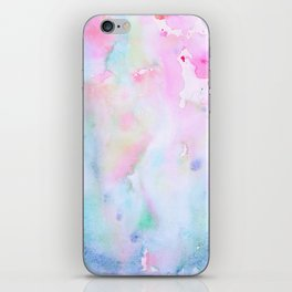 Watercolor Abstract pink Forest iPhone Skin