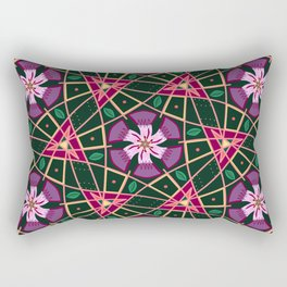 Purple Passion Floral pattern Rectangular Pillow